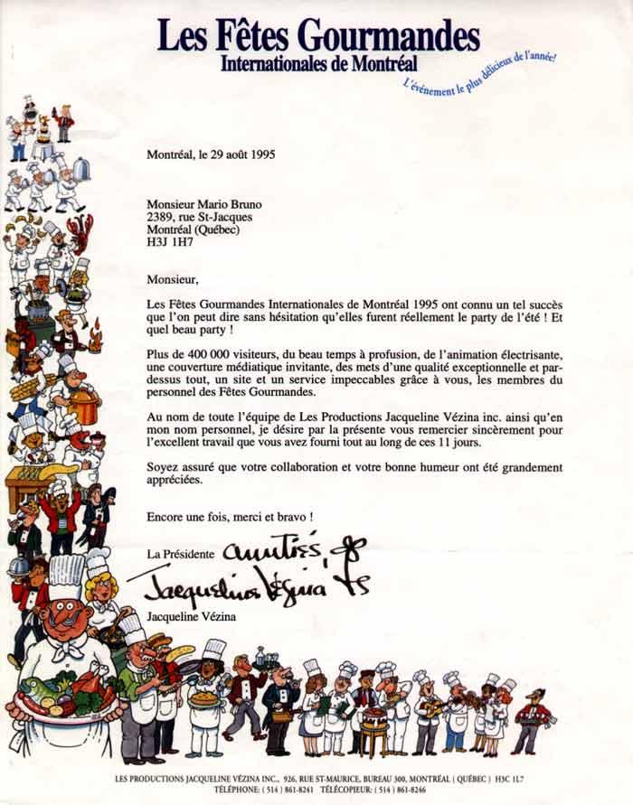 Accordéon Musette aux Fêtes Gourmandes de Montréal en 1995