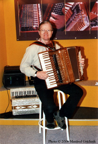 Accordion demonstration at the Frankfurt Musikmesse
