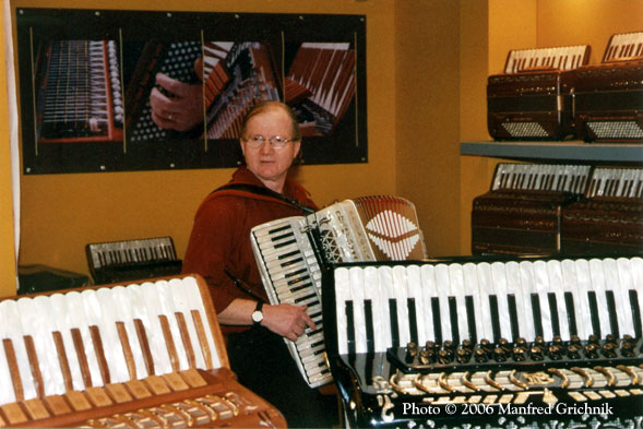 Accordion demonstration at Frankfurt Musikmesse