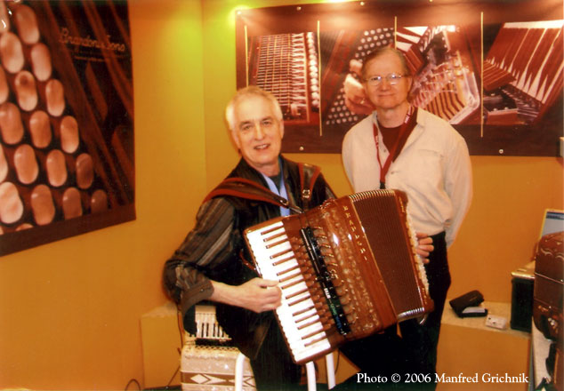 Mario Bruneau with Manfred Grichnik at Musikmesse