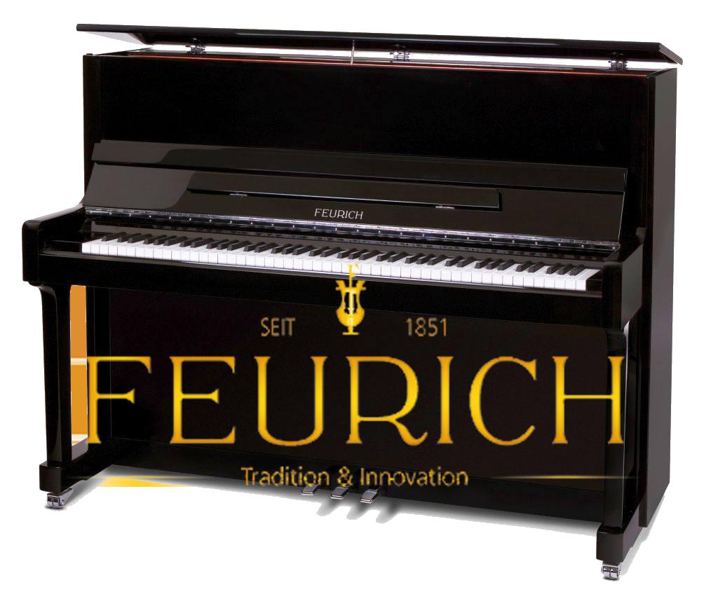Piano droit Feurich au Québec